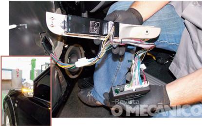 Sistemas antiesmagamento e rebatedor de retrovisor