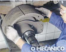 Manutenção preventiva de freio de carretas