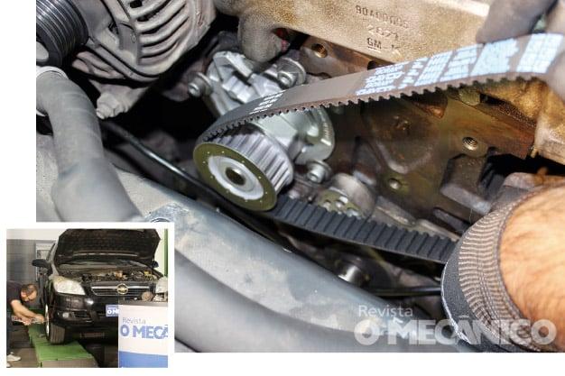 Troca de correias e bomba d'água no Chevrolet Vectra