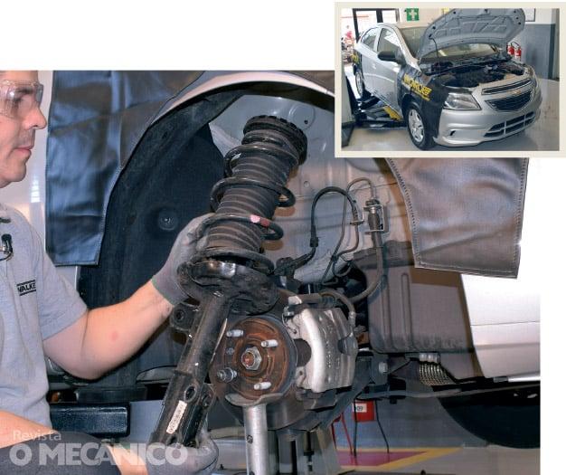 Substituição dos amortecedores no Chevrolet Onix
