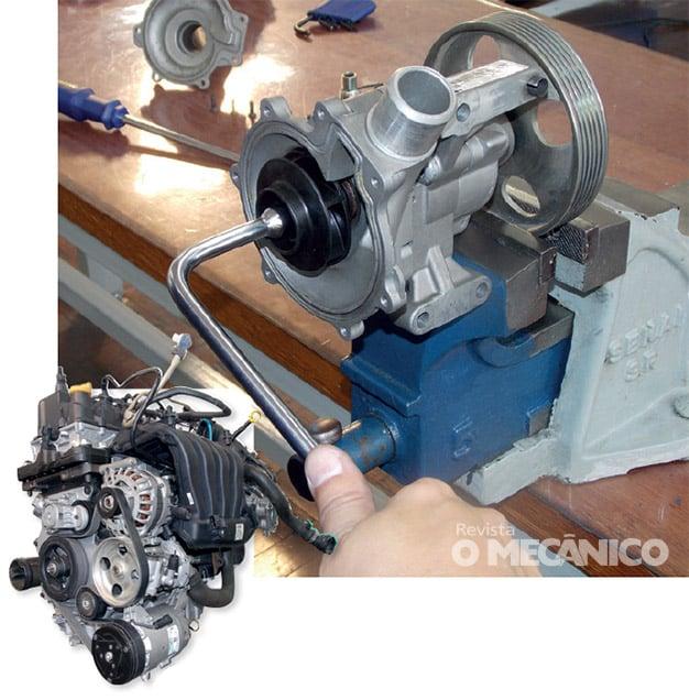 Arrefecimento: Substituição da bomba d'água em motores Fiat E.torQ