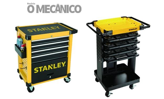 Stanley lança dois carrinhos de ferramentas para oficinas mecânicas